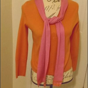 SIGRID OLSEN MP SWEATER WITH SCARF